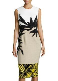 Jason Wu Botany Applique Combo Dress, Jasmine