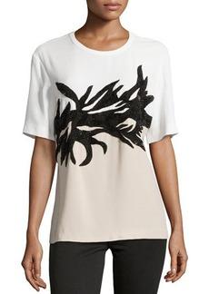 Jason Wu Botany Applique T-Shirt, Ivory