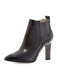 Jason Wu Buffed Leather Brogue Ankle Boot