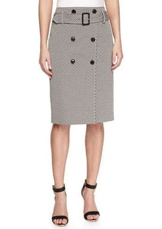 Jason Wu Button-Front Jacquard Pencil Skirt