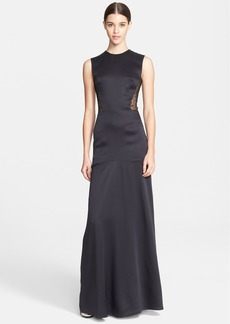 Jason Wu Charmeuse & Corded Lace Gown