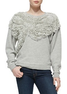 Jason Wu Chiffon Embellished Sweatshirt