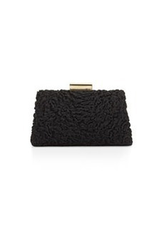 JASON WU Christy Astrakhan Fur Pochette Bag, Black