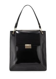 JASON WU Christy Leather Shopper Tote Bag, Black
