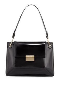 JASON WU Christy Leather Shoulder Bag, Black