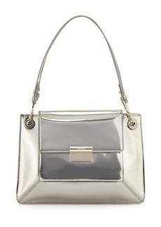JASON WU Christy Leather Shoulder Bag, Silver