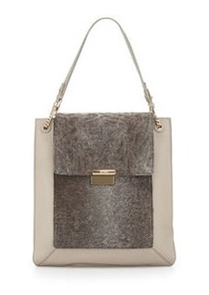 Jason Wu Christy Sectional Leather Shopper Tote Bag, Powder Gray