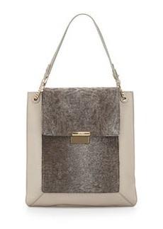 Jason Wu Christy Sectional Leather Shopper Tote Bag, Powder Gray