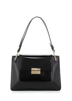 JASON WU Christy Sectional Leather Shoulder Bag, Black