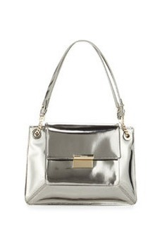 JASON WU Christy Sectional Leather Shoulder Bag, Silver