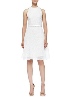 Jason Wu Corded Lace Dress W/ Flounce Hem