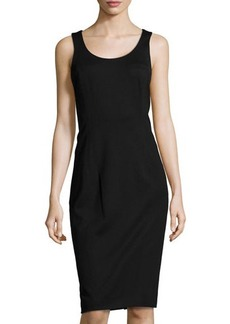 Jason Wu Corset-Back Ponte Dress, Black