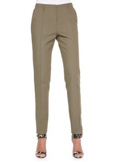 Jason Wu Cotton-Blend Twill Pants, Dark Olive