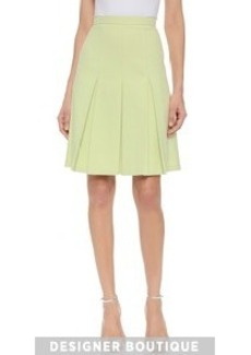 Jason Wu Cotton Twill Box Pleat Skirt