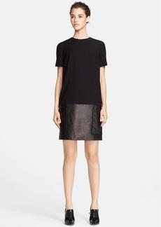 Jason Wu Crepe & Leather Tunic Dress