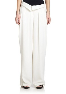 Jason Wu Crepe Cady Wide-Leg Pants