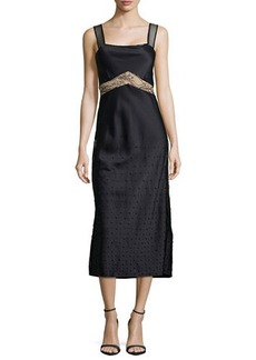Jason Wu Crepe Dress with Embroidered Lace