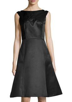 Jason Wu Cutout-Back A-Line Dress, Black