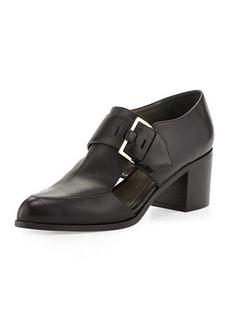 Jason Wu Cutout Leather Buckle Loafer, Black