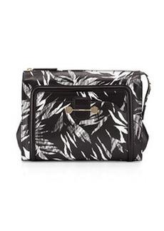 Jason Wu Daphne 2 Tropical-Print Clutch Bag, Black
