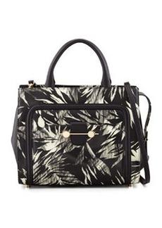 Jason Wu Daphne 2 Tropical-Print Tote Bag, Black/White