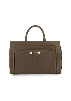JASON WU Daphne East West Leather Tote Bag, Dark Olive