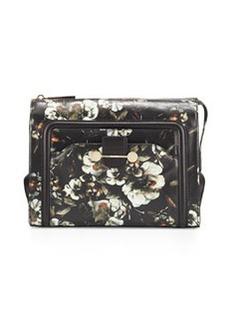 JASON WU Daphne Floral Leather Clutch Bag, Black