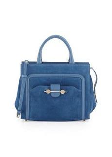Jason Wu Daphne Suede Crossbody Tote Bag, Blue