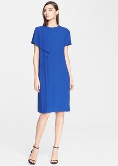 Jason Wu Drape Front Short Sleeve Crepe Dress