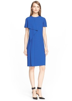 Jason Wu Drape Front Short Sleeve Crepe Dress