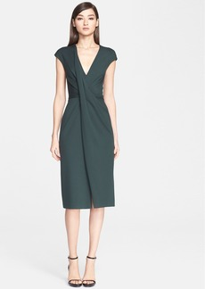 Jason Wu Drape Front V-Neck Dress