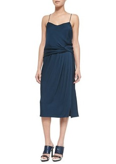 Jason Wu Draped Satin-Back Crepe Dress