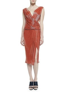 Jason Wu Draped Sequin Crossover Dress