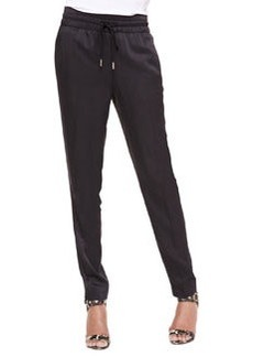 Jason Wu Drawstring Slim Jogging Pants, Black