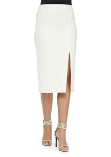 Jason Wu Faux-Wrap Pencil Skirt, Chalk