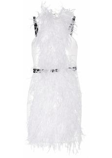 Jason Wu Feather-embellished sateen dress
