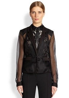 Jason Wu Fitted Silk Organza Jacket