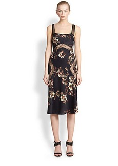 Jason Wu Floral Lace-Insert Dress