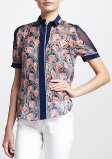 Jason Wu Floral-Print Chiffon Shirt