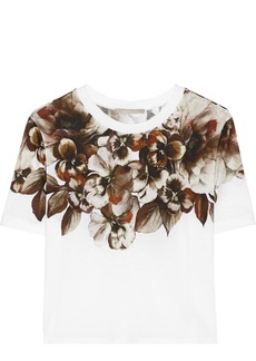 Jason Wu Floral-print cotton-blend top