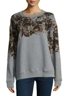 Jason Wu Floral-Print Relaxed-Fit Sweatshirt, Gray