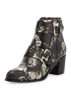Jason Wu Floral-Printed Leather Boot, Multi