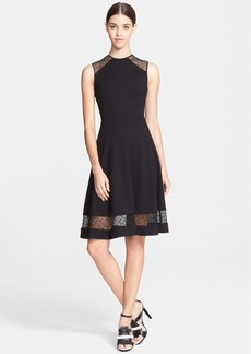 Jason Wu Flounce Skirt Ponte Jersey & Corded Lace Dress