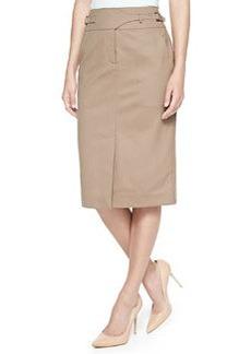 Jason Wu Gabardine Utility Skirt, Tobacco