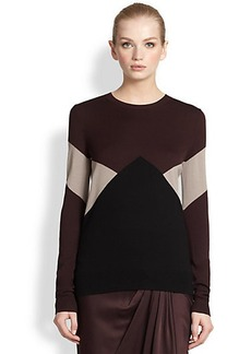Jason Wu Intarsia-Knit Merino Wool Sweater