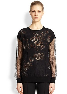 Jason Wu Lace & Floral-Print Pullover