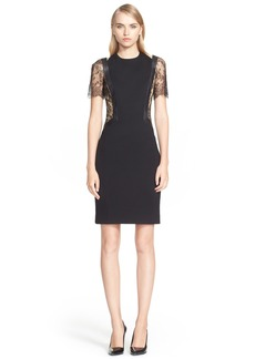 Jason Wu Lace & Leather Trim Jersey Dress (Nordstrom Exclusive)