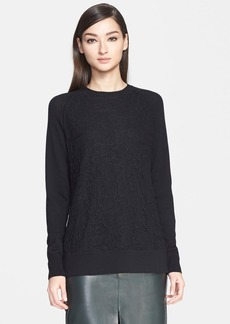 Jason Wu Lace Embroidered Wool Sweatshirt