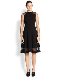 Jason Wu Lace-Insert Ponte Dress