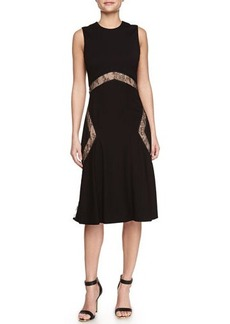 Jason Wu Lace-Inset Flare-Hem Dress